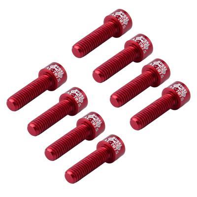8pcs Red CNC Bolts Screws for MTB Mountain Bike Bicycle Stem Screw M5 x 17mm