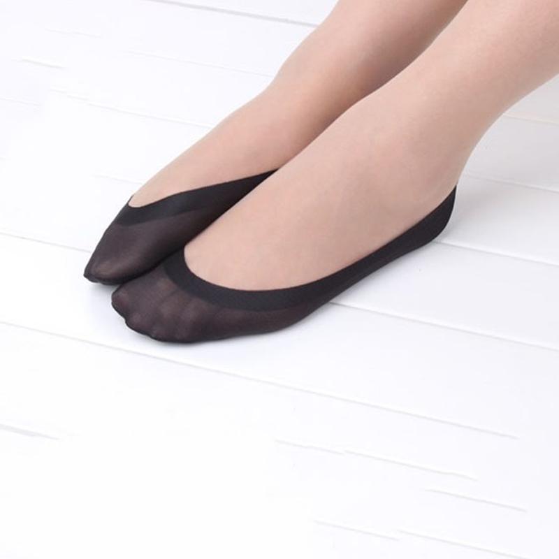 Cotton Low Cut Socks Lace Jacquard No-Show Socks Anti-Slip Invisible Boat Socks