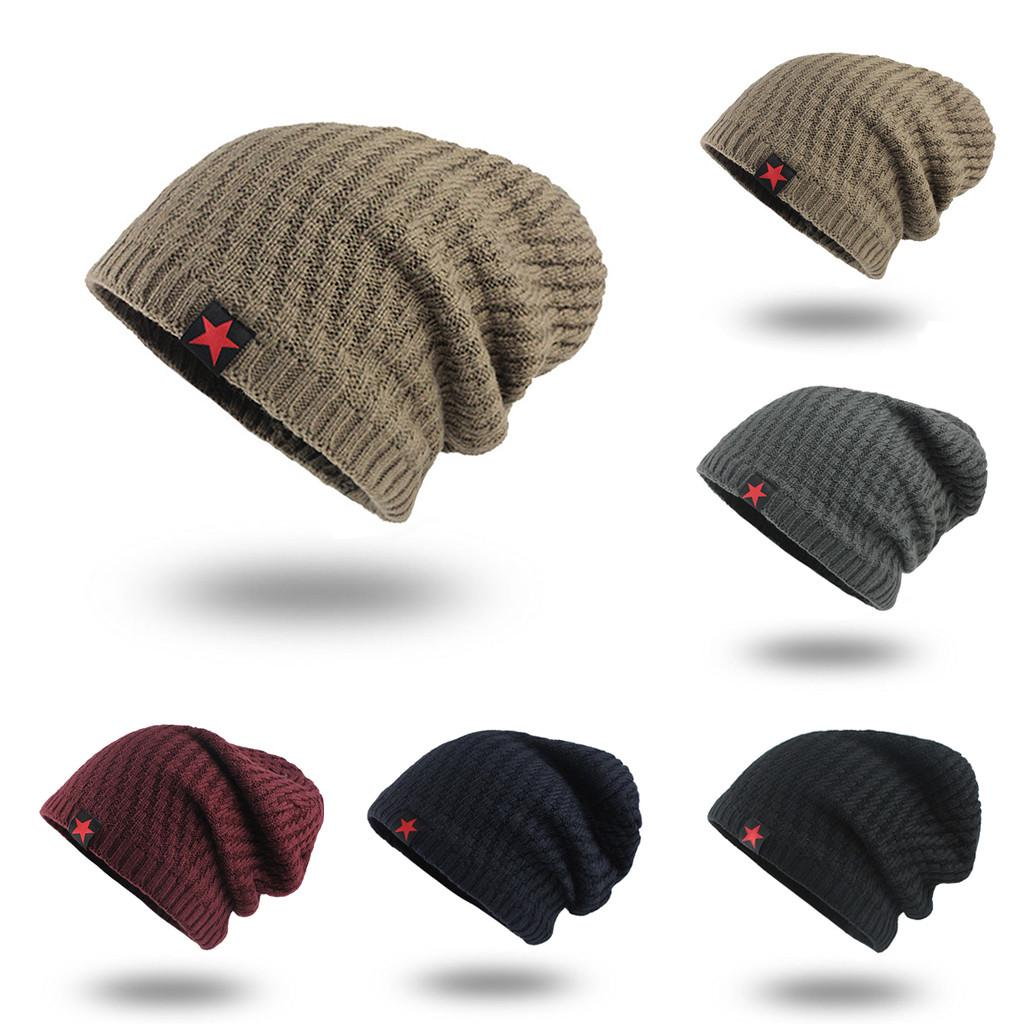 Cálido invierno Crochet lana Knit vellosidad cráneo Slouchy tapas ...