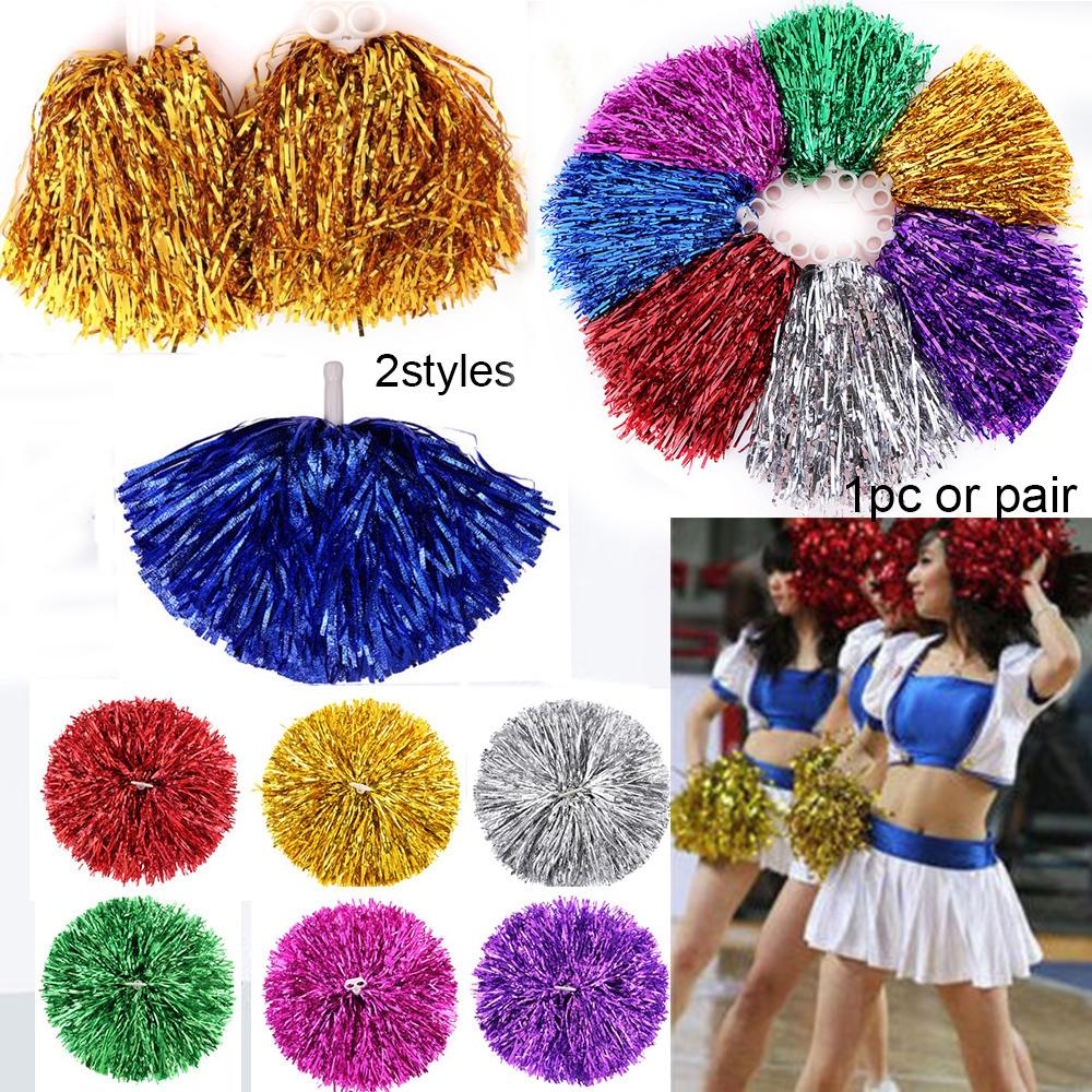 2 styles Cheerleader pompoms Double Hole Handle Ball Dance Party Decorator