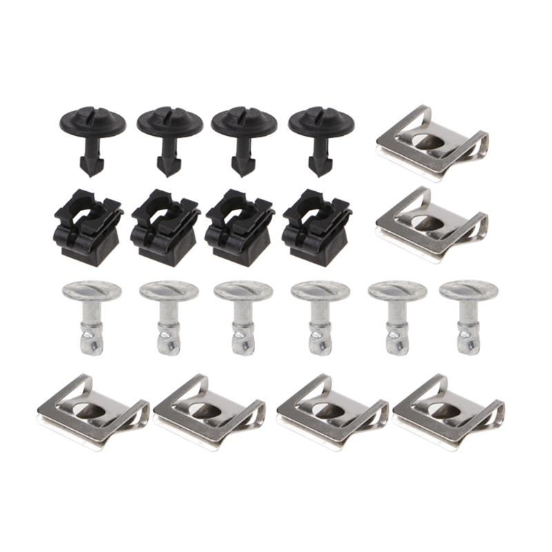 5X NEW AUDI BMW UNDER ENGINE GEARBOX COVER GALVANIZE CLIPS FASTENERS 8K0805922A