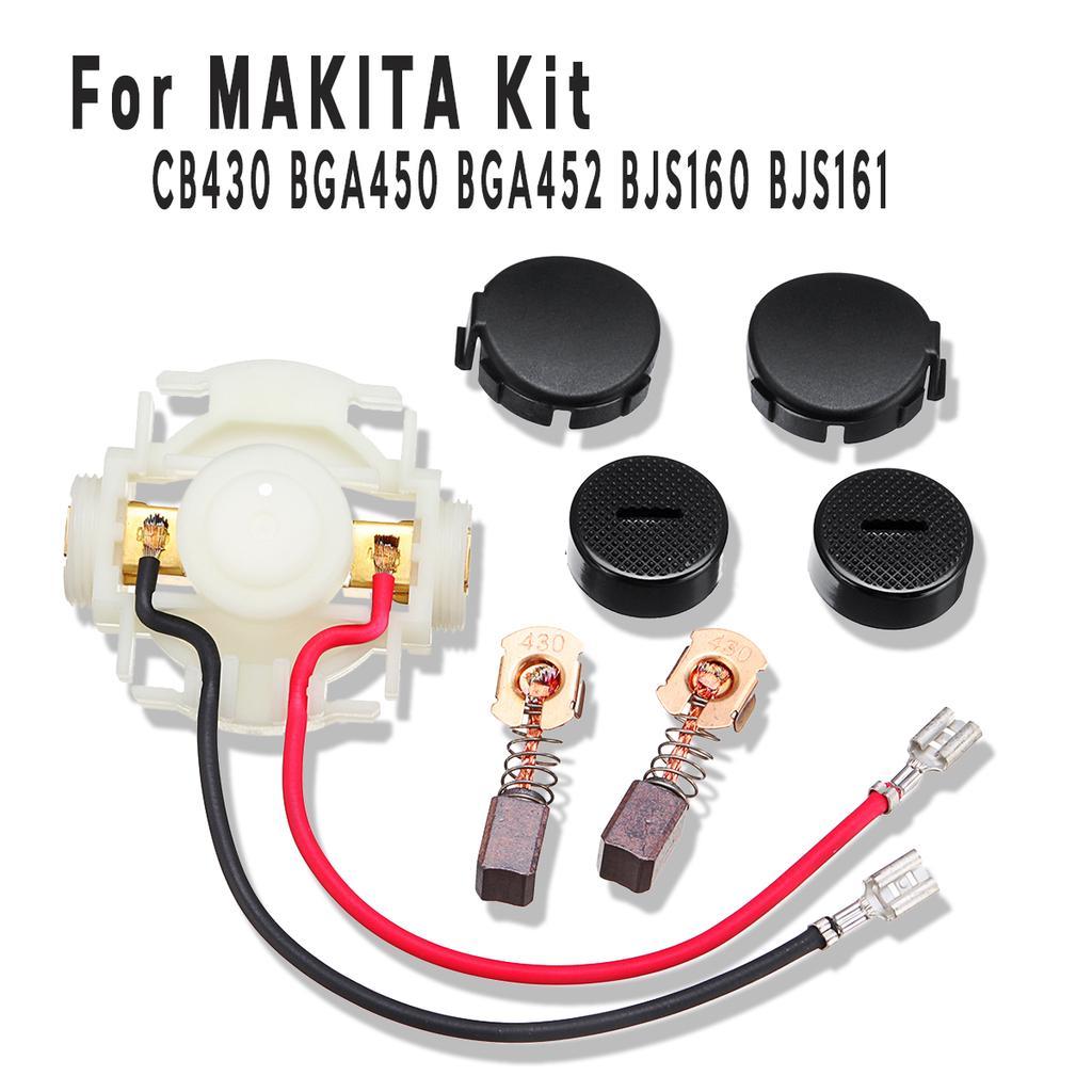 Caps /& Covers For Makita BGA450 BGA452 DGA452 cb430 Carbon Brushes