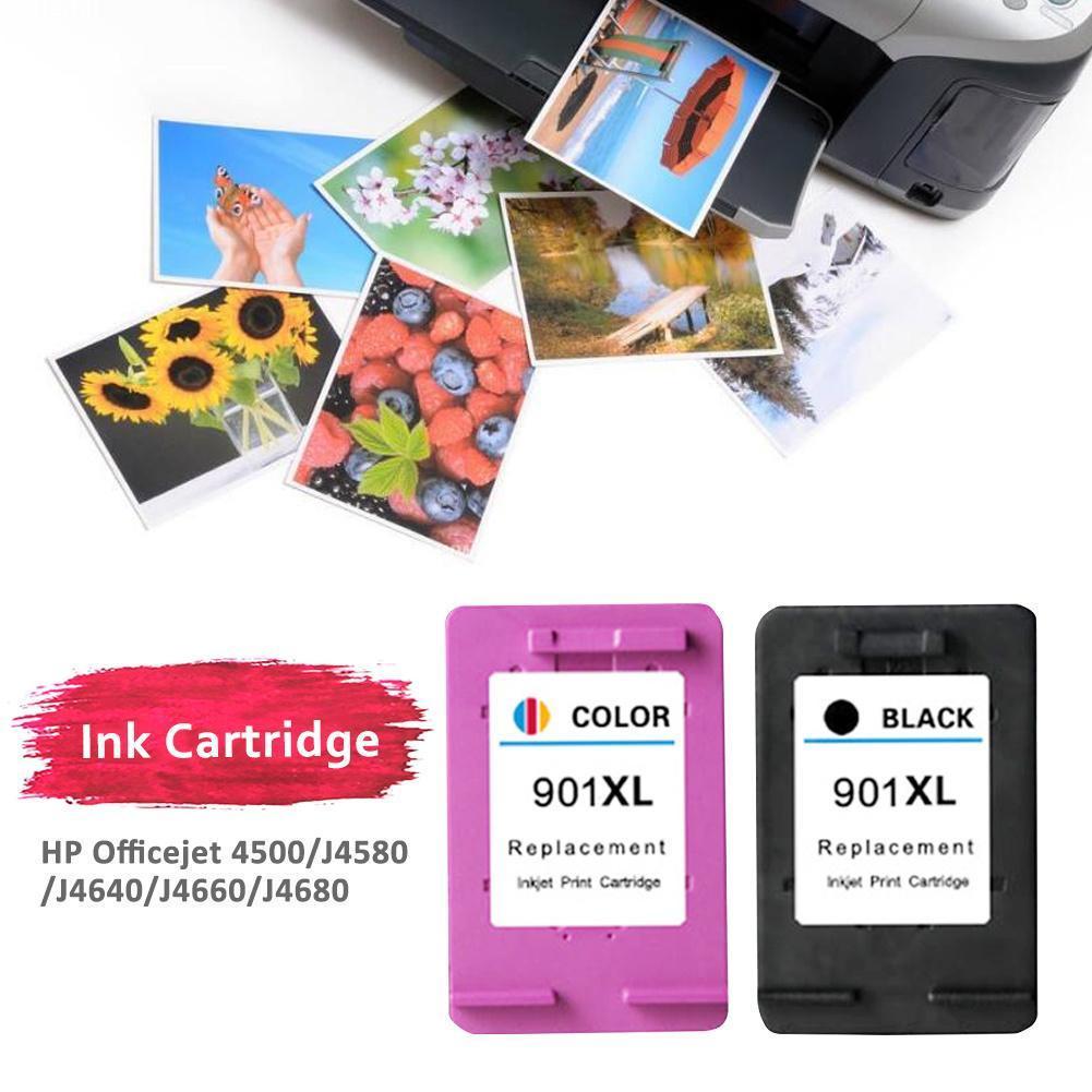 2PK HP 901 XL 901 Black /& Color Ink Cartridge For Officejet J4640 J4660 J4680