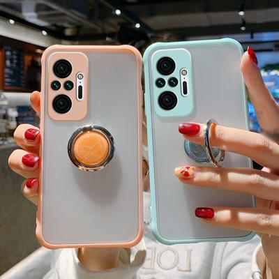 Matte Ring Holder Phone Holder Case For Xiaomi 11 POCO X3 NFC Redmi Note 10 Pro 9S 9 9A 9C Shockproof Hard Back Cover