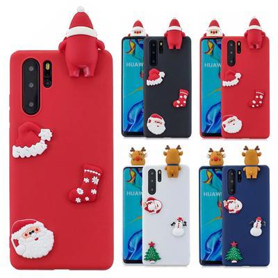 Fashion Christmas TPU Silicone Phone Case Cute 3D Santa Claus Elk Cover for iPhone Xiaomi Mi Note 10 Pro Huawei P30 Lite Samsung Galaxy A30s A50s