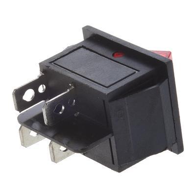 20A 125V RED ON-OFF Double Pole 3 Pin  ILLUMINATED SLIM Rocker Switch 16A 240V
