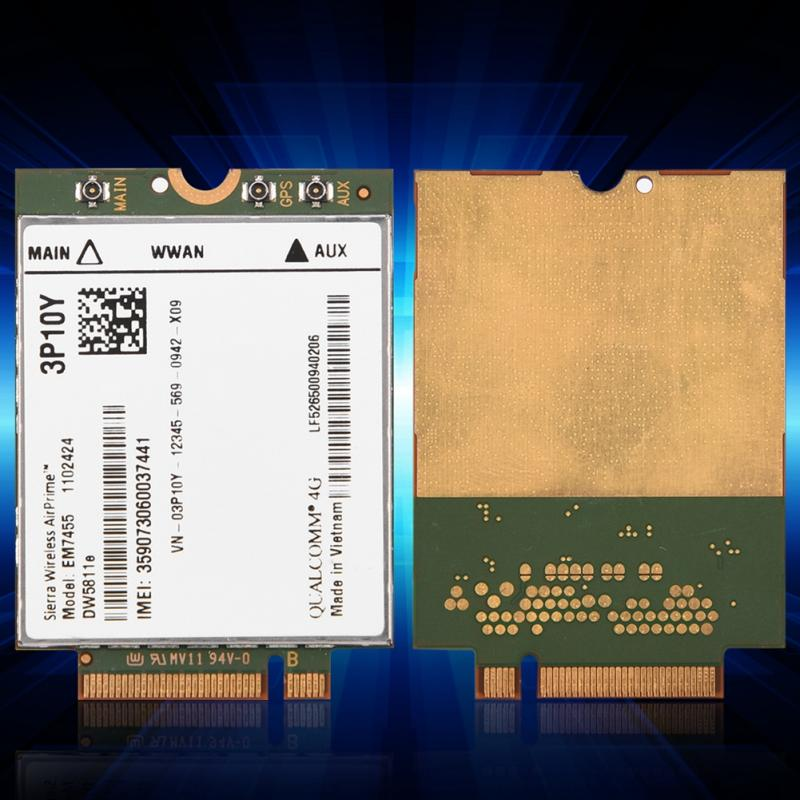 Replacement Wireless EM7455 for Dell DW5811e 3P10Y Qualcomm 4G LTE WWAN  NGFF Card Module