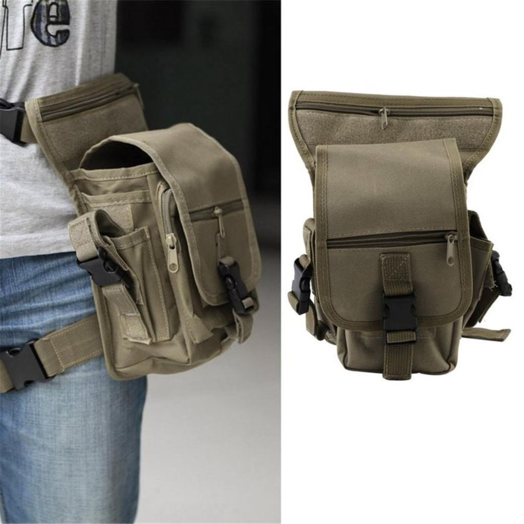 Tactical Airsoft Drop Leg Pouch Utility Magazine Bag Phone Case w// Belt Storage