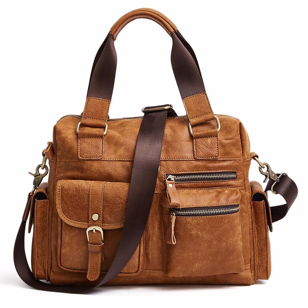 DIOULAORENTOU Lightweight Retro Messenger Bag 13