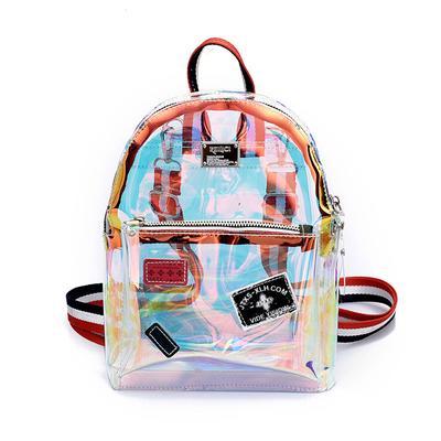 cd575e9ec Mochilas transparentes para sacos de ombro de meninas do estilo novo Laser  mochilas sacos de escola