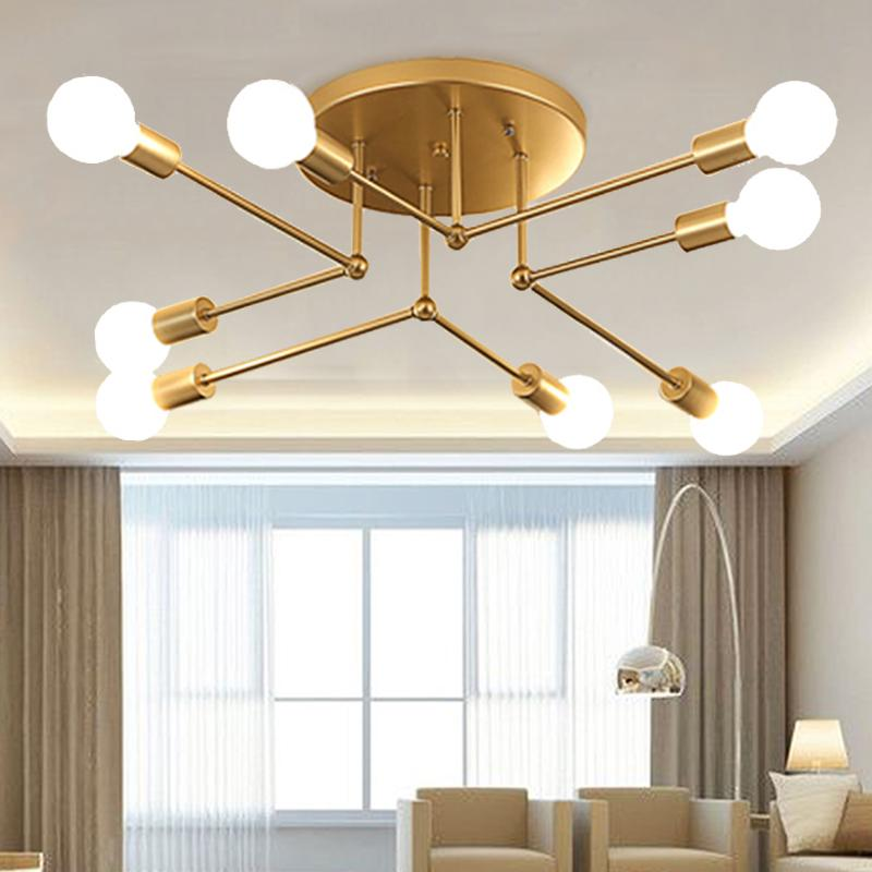 Iron Led Ceiling Lamp Home Bedroom, Ceiling Lights For Living Room