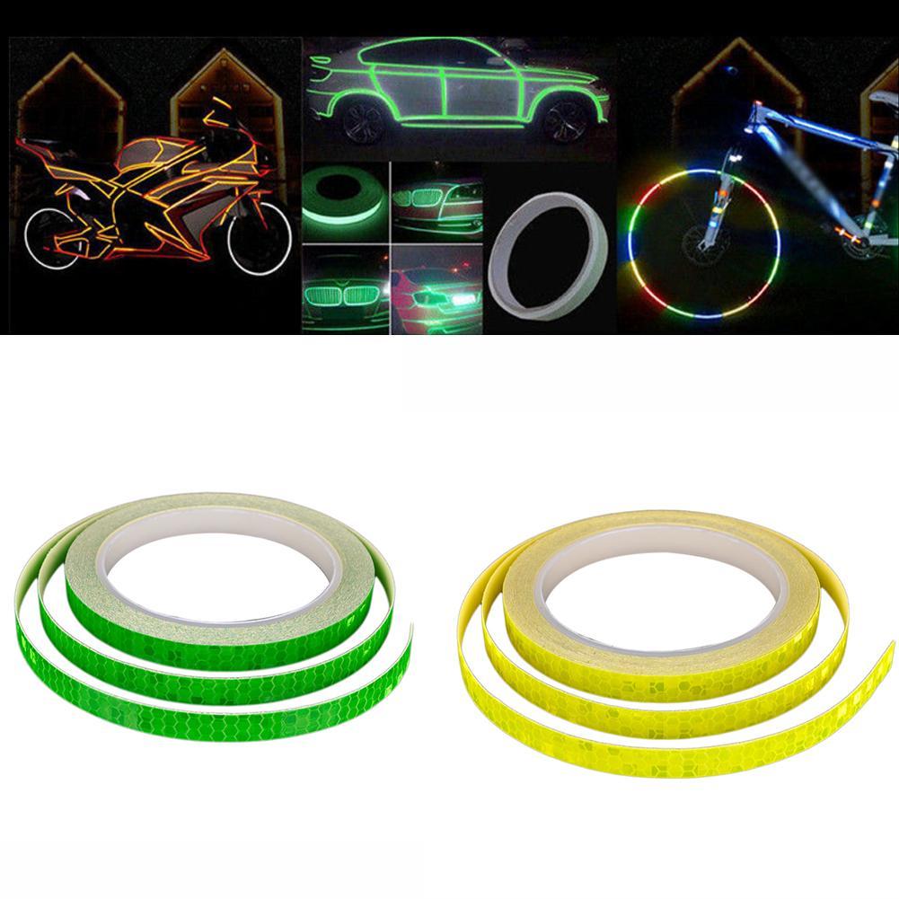 Car Sticker 1cm*5m Reflective Tape Reflect Auto Motorcycle Bike Safty Warning BH
