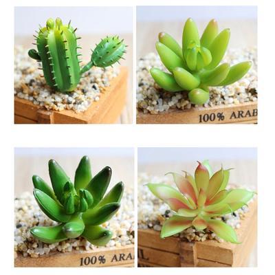 Artificial Foliage Succulent 13-Branch Cactus Plant Wedding Party Vivid Decor