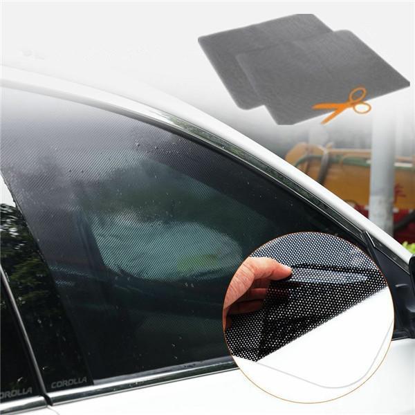 2x Car Auto Side Window Mesh Film Windshield Net Sun shade Sticker UV Protection
