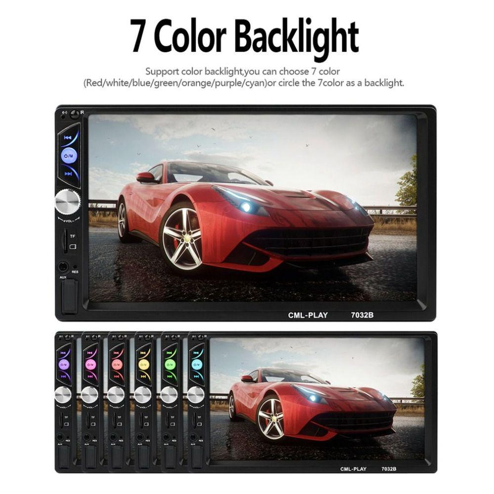 Car stereo mp5 player car dvd mp5 player FM radio multimedia player touch  screen bluetooth car monitors subwoofer 7032b