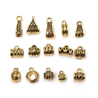 Mix Kinds 15 pcs Vintage Alloy Ancient Dragon Craft Pendants Charms Accessories