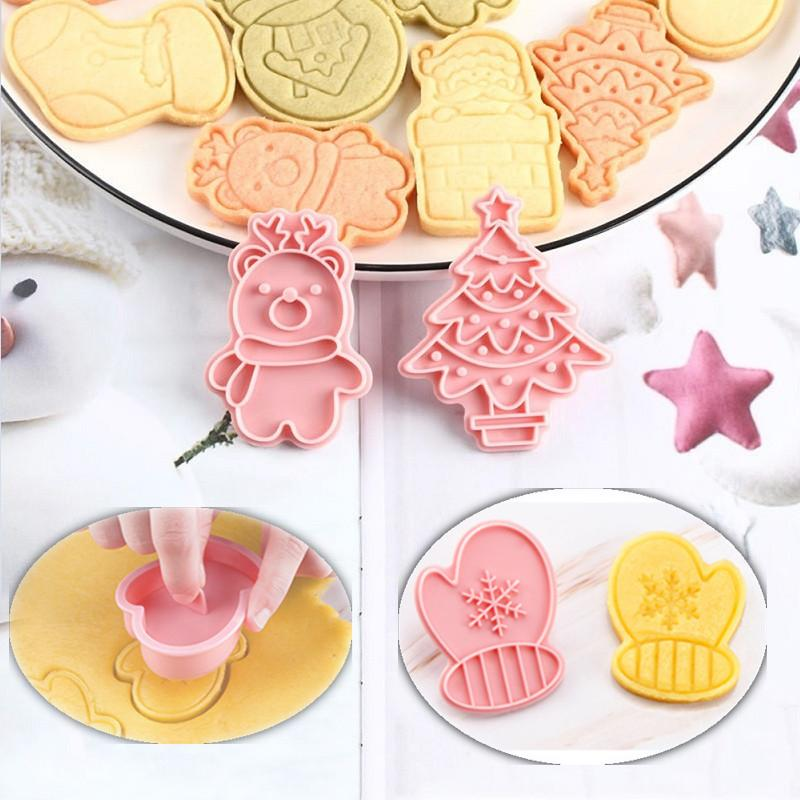 Christmas Silicone Cake Decor Mold Chocolate Baking Cookies Biscuit Mould Tool