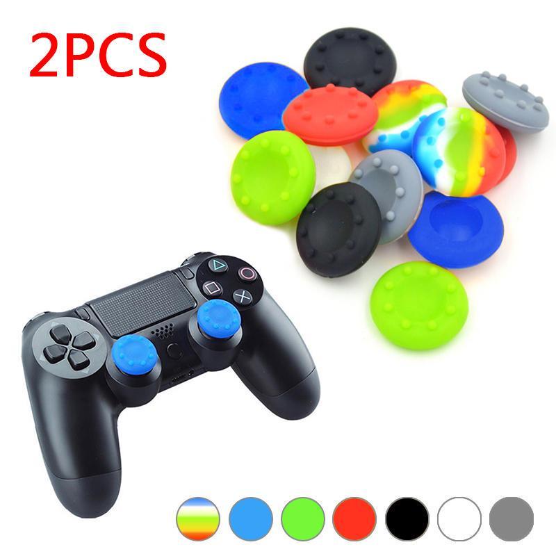 2шт силиконовые Cap нечувствительности пальца Stick X крышкой кожи случае джойстик сцепление резины ручки для PS2/3/4 фото