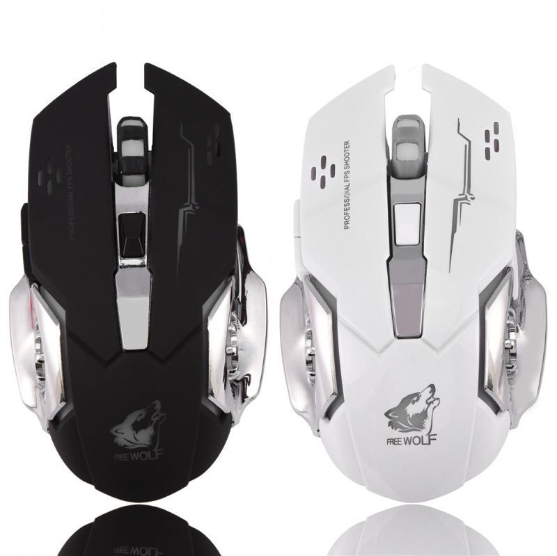 USB wired mouse mechanical wired optical gaming mouse silent programmable  buttons adjustable DPI LED light