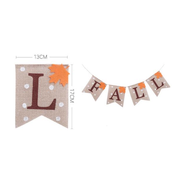 1PC Banner Attractive Creative Practical Maple Leaves Linen Flag for Party