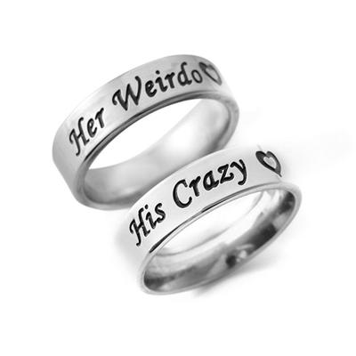 Cute LOVE YOU MOM Stainless Steel Carving Ring Mother Mummy Family Gift Jewelry