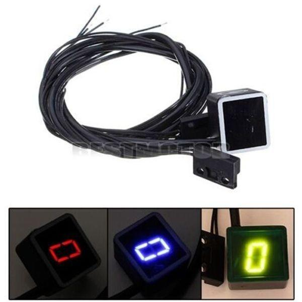 Motorcycle Gear Indicator Universal Motorcycle LED Digital Gear Indicator Speed Shift Clutch Lever Sensor Accessory
