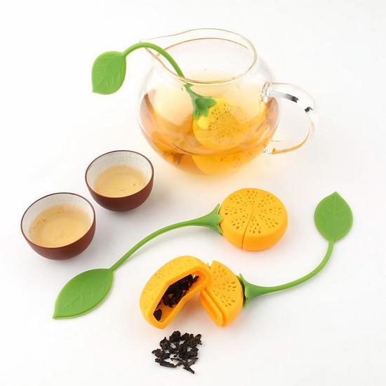 Стрейнер чая пищи класса силиконовые infuser лимон замок фото