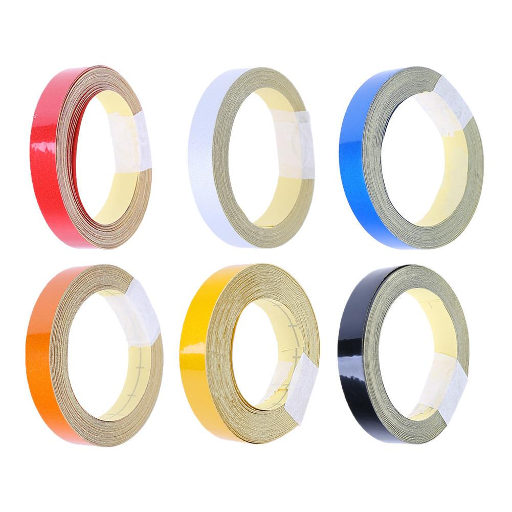 1cm x 5m Car Safety Warning Reflective Tape Roll Film Ornament Sticker Decal