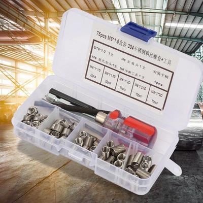 Tool Thread Repair Kit,116Pcs//set Stainless Steel Wire Screw Sleeve Thread Repair Insert Kit Tool Set