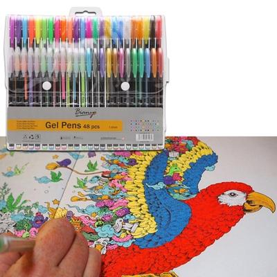48 Colores únicos Gel Arte Adulto Bolígrafos Marcadores Kid Dibujo