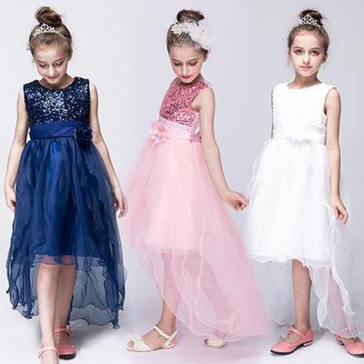 d1eab28ccbb Kid Toddler Girl Sequined Flower Birthday Wedding Party Formal Princess  Dress