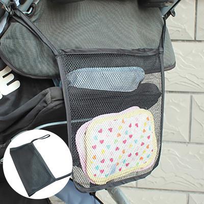 Mesh Net Hanging Bag Organiser Diaper Storage for Baby Stroller Pram Pushchair
