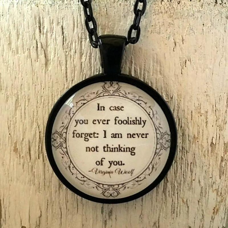 Family Decor You Always Had The Power Quote Pendant Necklace Cabochon Glass Vintage Bronze Chain Necklace Jewelry Handmade