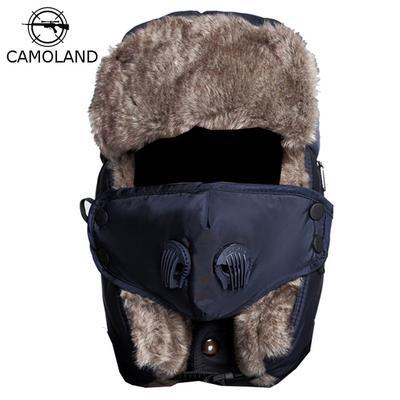 0d01832801106 Winter Warm Earflap Bomber Hats Caps for Men Women Russian Thermal  Snowboard Hat Trooper Trapper