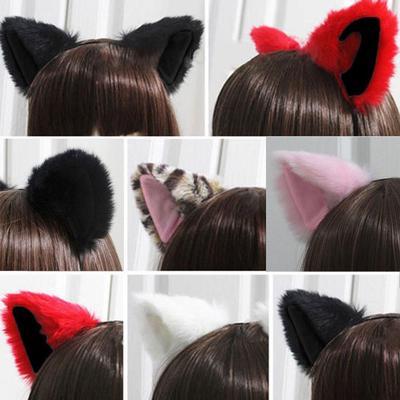 Coiffure Halloween Orecchiette Mignon Costume Party Chat Oreilles poils d/'oreille clip