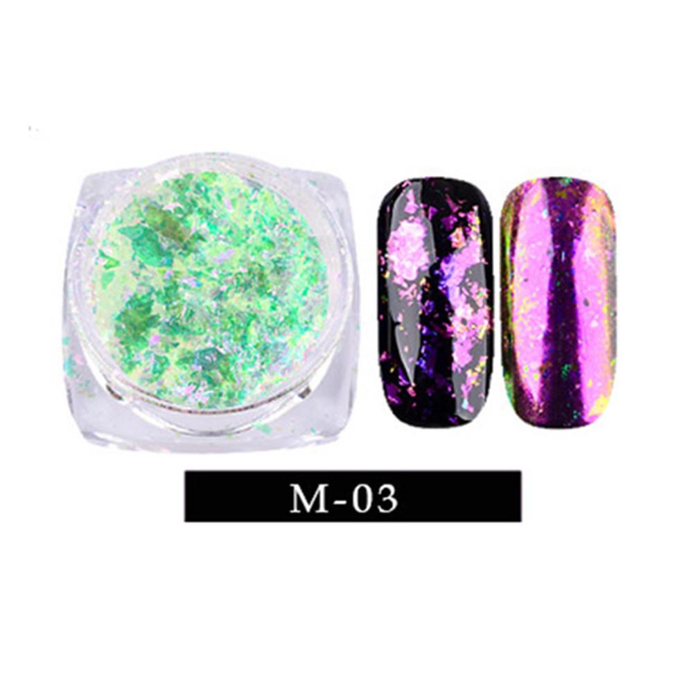 Uñas arte camaleón magnífico espejo polvo manicura cromo pigmentos Glitters