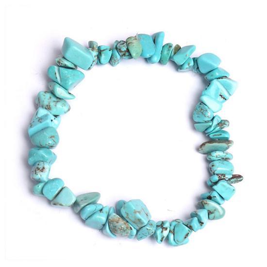 de481efc160d Esposas cristal de piedras preciosas chip rebordeado tramo curación reiki