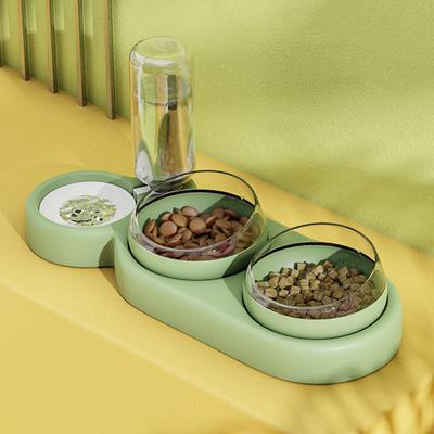 Automatic Cat Bowl Water Dispenser Water Storage Pet Dog Cat Food Bowl Food Container with Waterer Pet Waterer Feeder