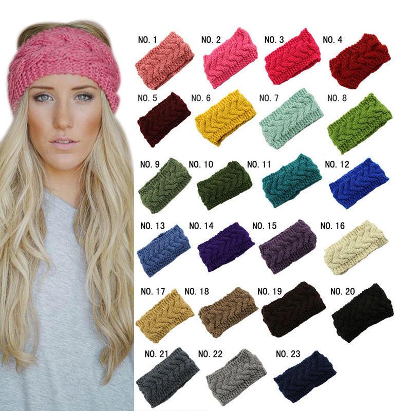Turbante punto vendas calientes de invierno Crochet cabeza envolver ...