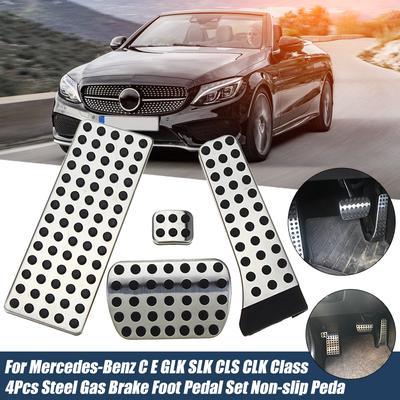 4pcs Car Fuel Brake Clutch Pedal Cover for Mercedes Benz W203 W204 W210 W211 W212 CE