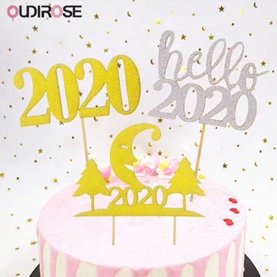 Incredible Hello 2020 Year Cupcake Topper Moon Snowflake Cake Toppers Dessert Funny Birthday Cards Online Alyptdamsfinfo