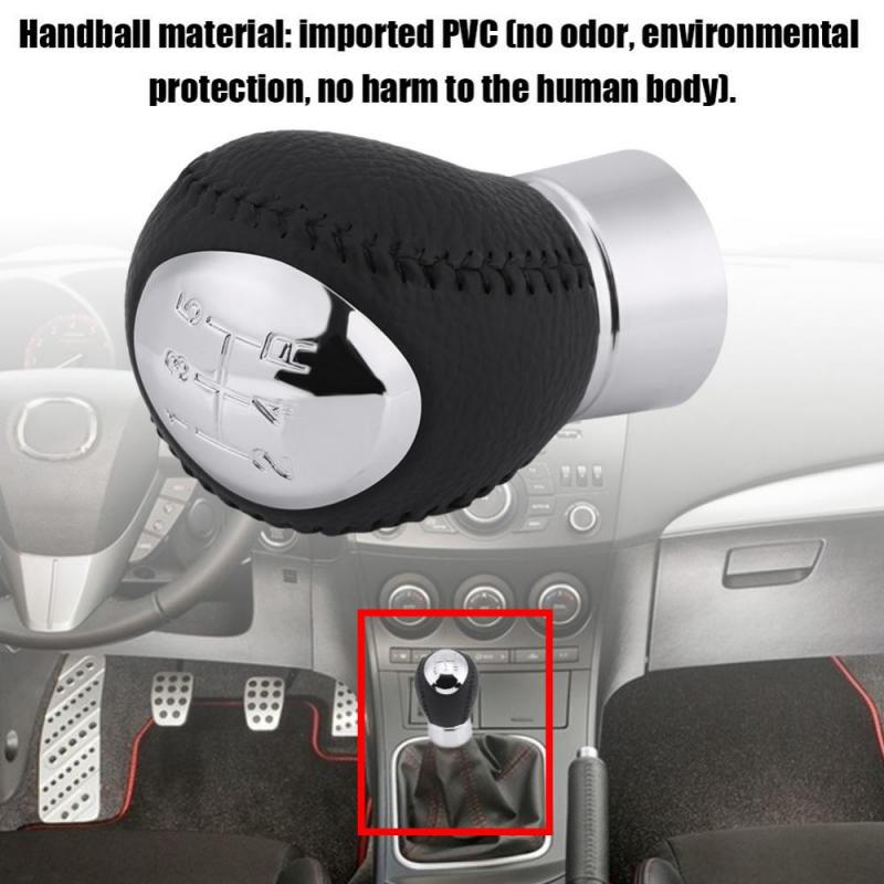 Car Styling 5 Speed Artificial leather Gear Shift Knob Fit for Ma-zda 3 5 6 323 626 RX-8 MPV