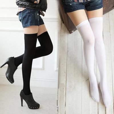 High Elasticity Girl Cotton Knee High Socks Uniform Flowers Leaf Women Tube Socks