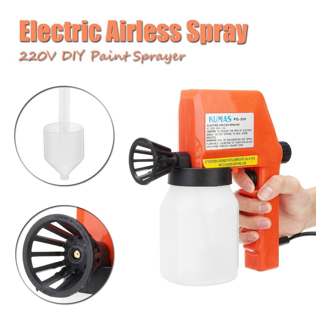 Electric Paint Sprayer Gun Removable High-pressure Paint Spray Air Flow Control