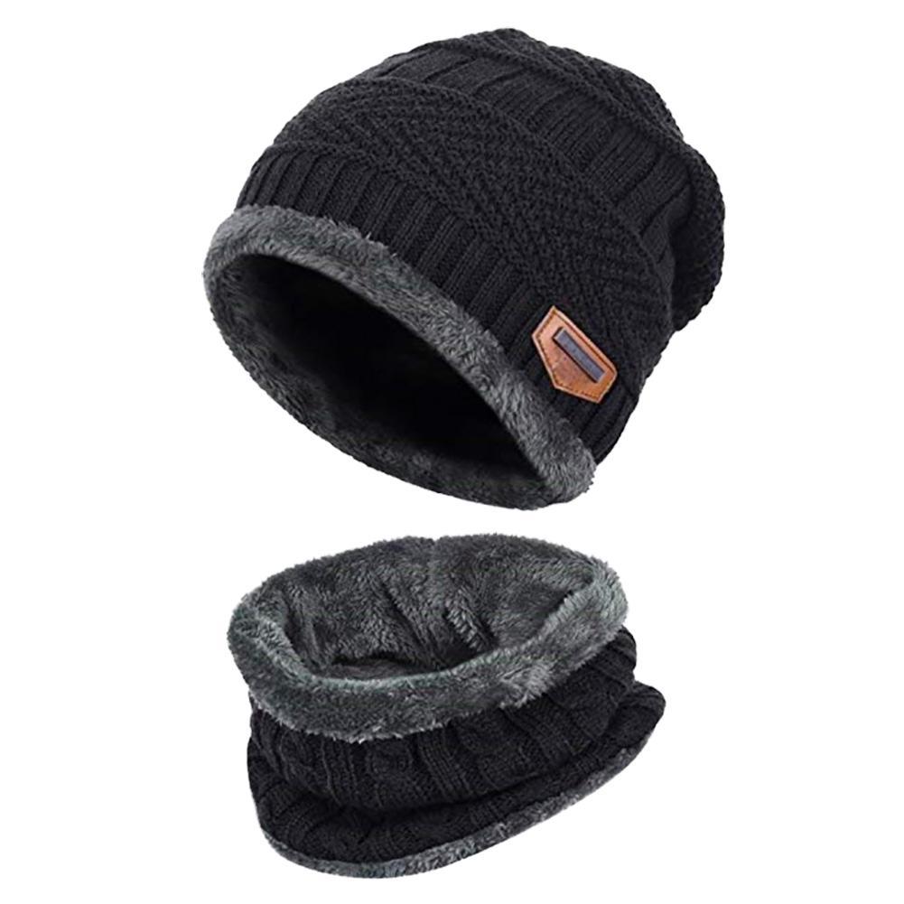 Sombrero hecho punto bufanda gorras sombreros de invierno calentador ... 43767099fae