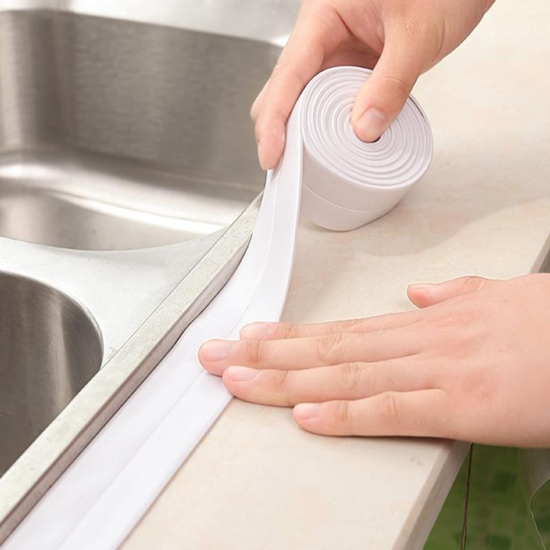 Самоклеящаяся уплотнительная лента для ванны, раковины 320см*22мм фото