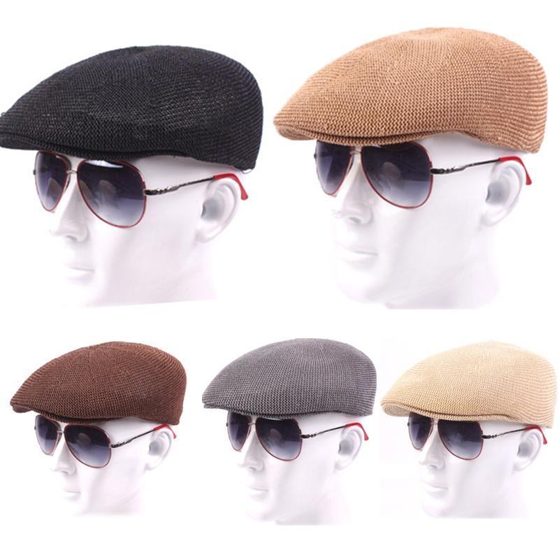 Clásico de verano malla hiedra sombrero Color sólido del ganchillo ...