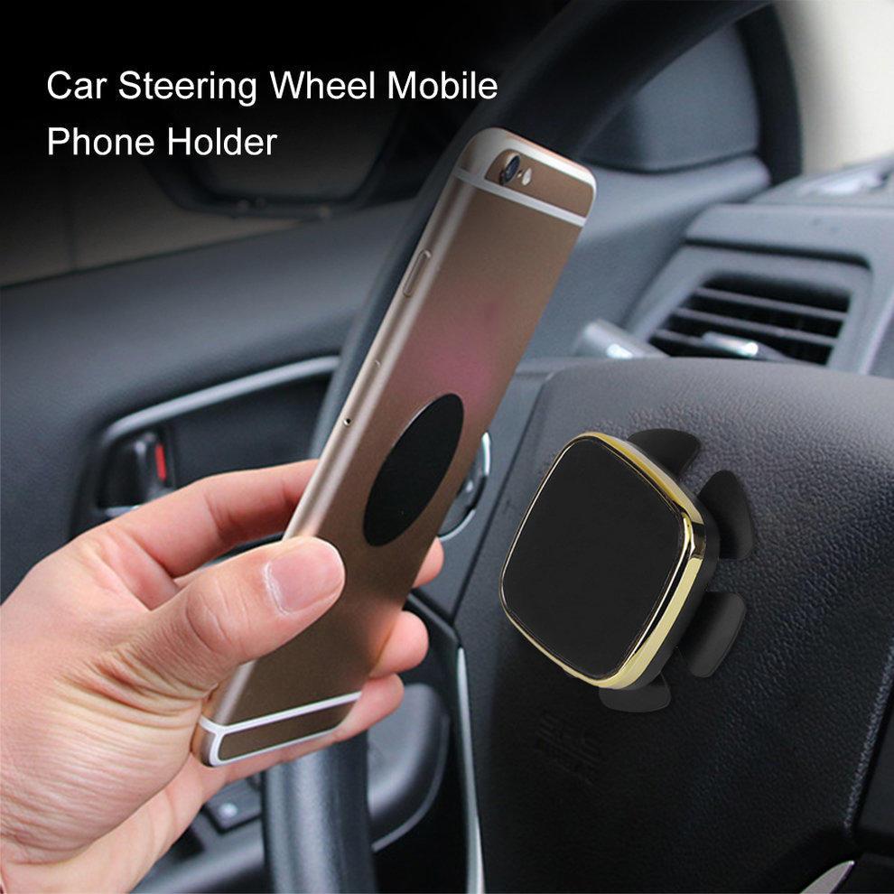 Universal-Stick am Lenkrad Auto montieren Magnethalter für iPhone ...