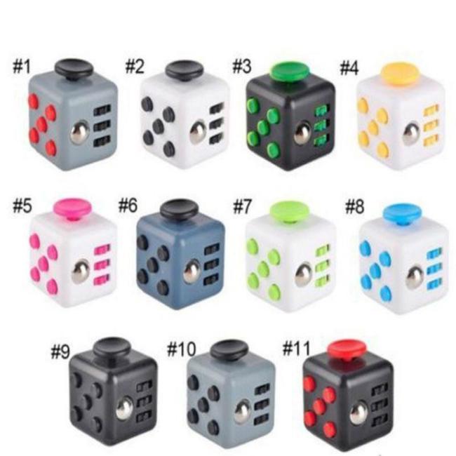 1шт ерзать куб 6-стороне куба анти раздражительность декомпрессии вентиляционные творческие игрушки кости для взрослых детей фото