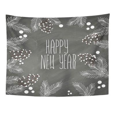 Chalkboard Vintage Hand Lettering Christmas Tree Chalk On Blackboard Word Merry Happy Wall Tapestry 80x60inch 150x200cm Buy At A Low Prices On Joom E Commerce Platform